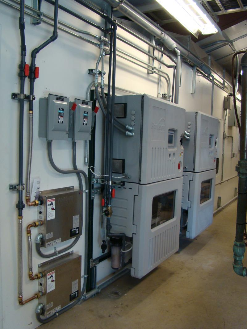 Miox onsite generation system installed for the City of Richland's UV Plant